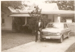 Uncle Thony in front of home at 1570 Hugenot St. Memphis, TN.  He moved there in 1928 and lived there until he died.