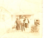 Grandma Joanna (Chaney),Uncle Thony, Aunt Annabell.  (Check out the length of that skirt Annabell is wearing)