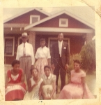 (L-R)standing - Joe Lee Ward, Joyce Ann and Vernon Lee Ward. Kneeling - Jerri, Gwen, Joetta and Sudie Mae Wright