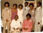 Maurice, Gwen, JoEtta, Louis, Jerri,Harvey with Mama (Susie) and Babe (Sudie) circa 1981