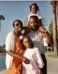 LaTonya with husband, Harvey Lewis and daughters, Sabrina and Jessica Lewis